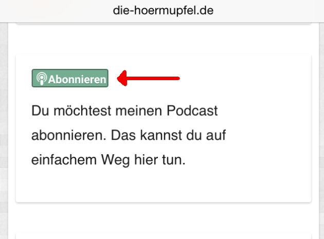 Podlove Subcribe Button