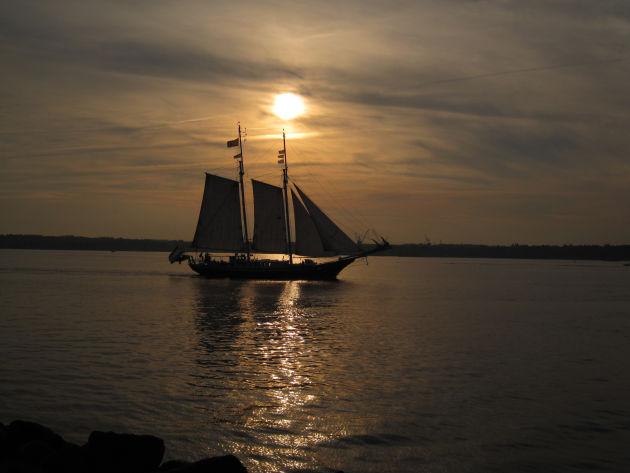Sonnenuntergang an der Kieler Förde