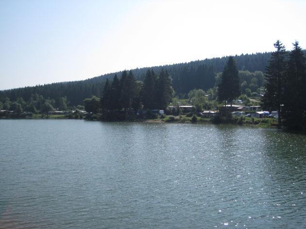 Blick auf den Campingplatz »Kreuzeck«