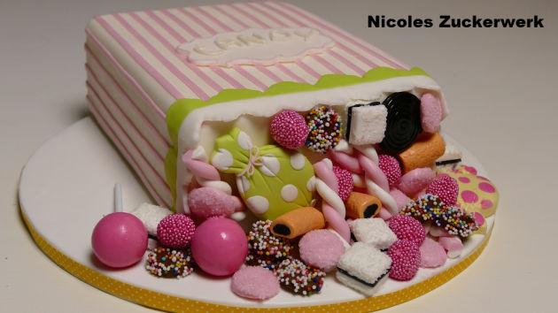 Limetten-Kokos-Torte