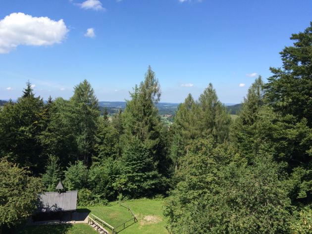 Vom Aussichtspunkt auf der Mauer der Burg hat man einen herrlichen Blick.