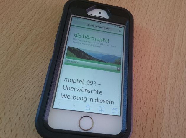 Das iphone 5S in der Otterbox