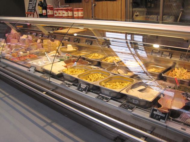 Frische Pasta in der Markthalle von Colmar