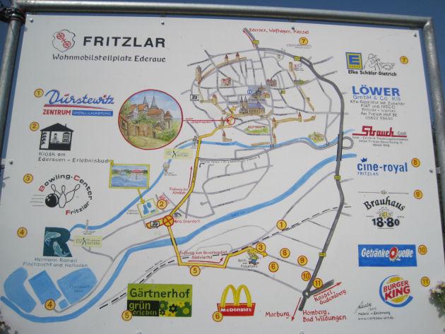 Fritzlar ist nicht sehr groß, besitzt aber eine niedliche, hübsche Altstadt