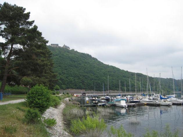 Die Seepromenade in Waldeck