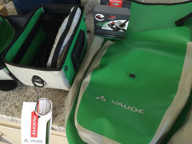 Meine neuen Fahrradtaschen inkl. größerem Adapter für E-Bikes