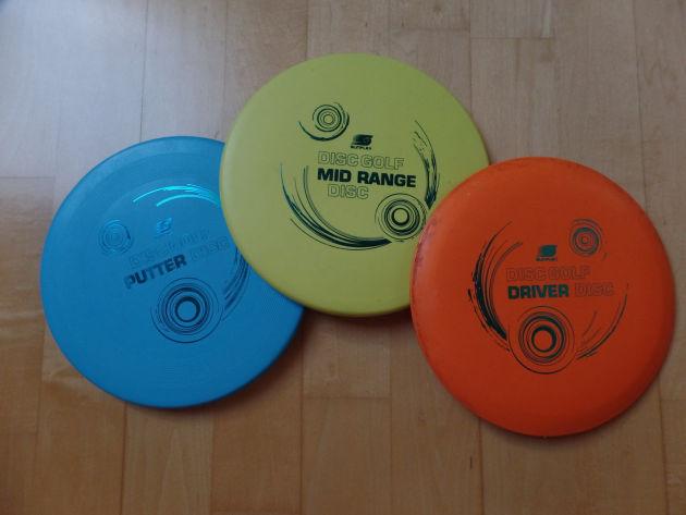 Eine Auswahl verschiedener Disc-Scheiben