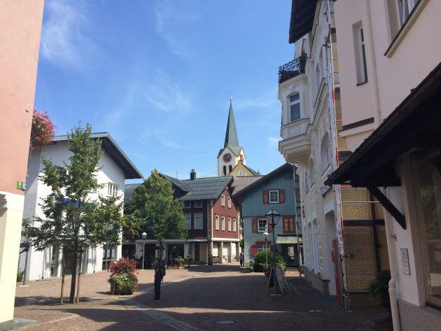 Fußgängerzone in Oberstaufen