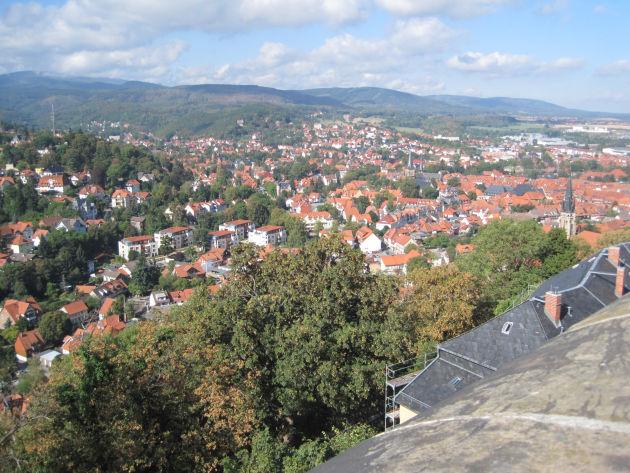 Wernigerode von der Terrasse des Schlosses gesehen