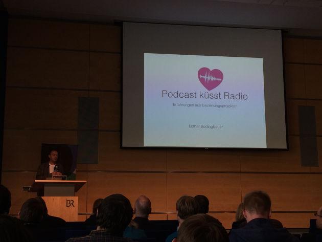 Einer von vielen interessanten Vorträgen: Podcast küsst Radio