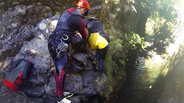 Canyoning auf Madeira.