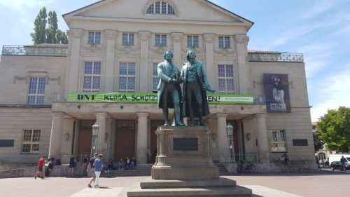 Bild: Goethe- und Schiller-Denkmal in Weimar
