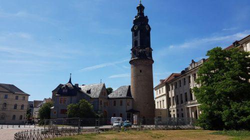 Bild: Blick auf eine Kirche in Weimar