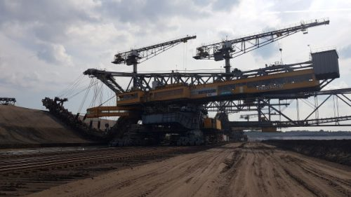 Bild Große Abraummaschine im Braunkohletagebau