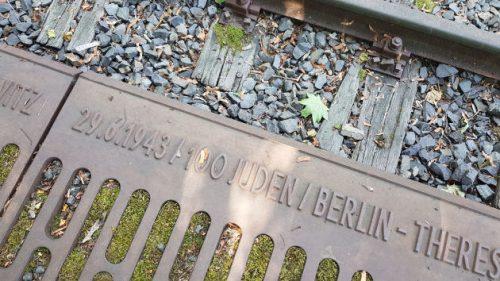 Bildausschnitt eines Gleises, von dem die Deportationen ins KZ starteten