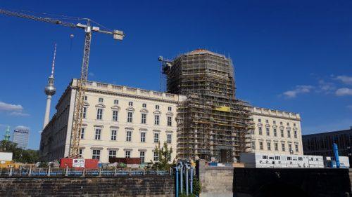 Bild der Baustelle des neuen Schlosses in Berlin