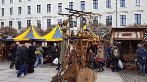 Bild Mittelalter-Weihnachtsmarkt in der Nähe des Odeonsplatzes in München