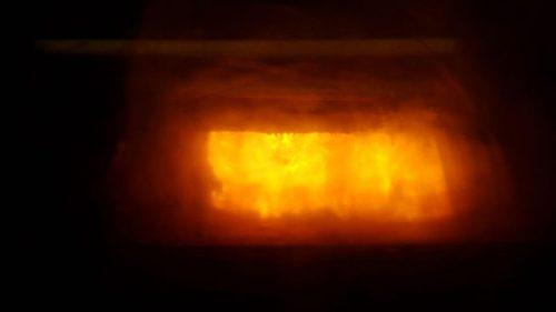Bild Blick in die Verbrennungsanlage des Heizkraftwerks