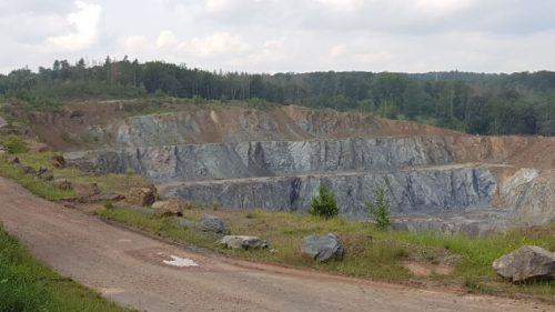 Tagebau an der HWN 61 - Harzer Grauwacke