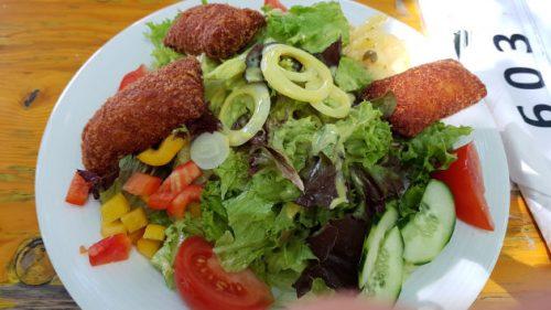 Salat in der Burgschenke