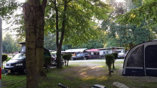 Blick auf den Campingpark Augsburg