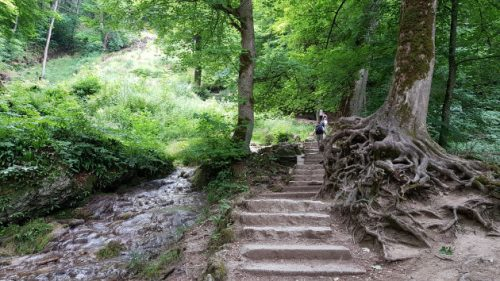 Der Weg zum Uracher Wasserfall