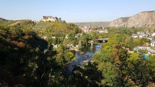Blick von der Ruine Rheingrafenstein