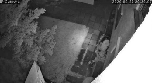 Nachtaufnahme der Überwachungskamera