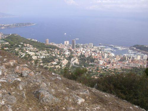 Oberhalb von Monaco
