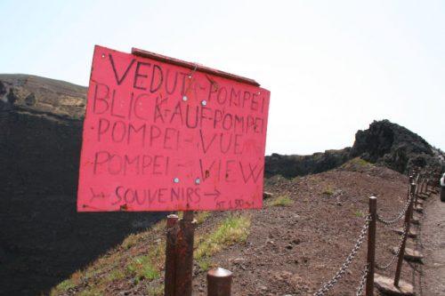 Auf dem Vesuv