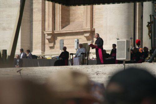 Die Papstaudienz geht los