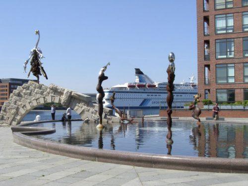 Kreuzfahrtschiff in Kopenhagen