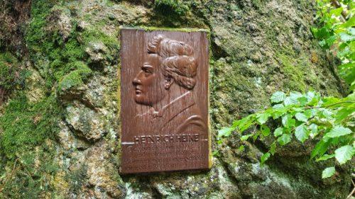 Tafel Heinrich Heine im Ilsetal