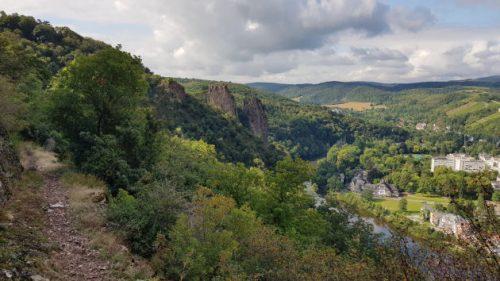 Auf der Wanderung der 3x3 Salinental-Vital-Tour Rheingrafenstein