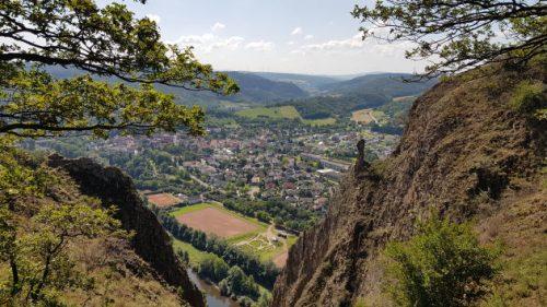 Blick ins Tal, der mich an das Gemälde von Caspar David Friedrich erinnert